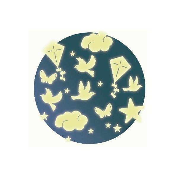 Fluorescencyjne Naklejki Na Sciane Ptaki Djeco Ambelucja Pl